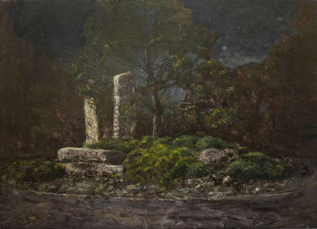 Kreisel Laufen Stefan Aufder Maur Painting